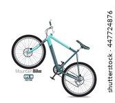 mountain bike isolated on white ...   Shutterstock .eps vector #447724876