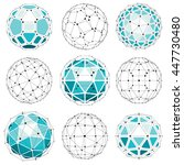 3d vector digital wireframe... | Shutterstock .eps vector #447730480