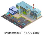 factory composition of... | Shutterstock .eps vector #447731389