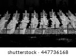 Black And White Memorial Crosses