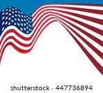 american flag background  usa... | Shutterstock .eps vector #447736894
