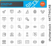 startup line icons set  outline ... | Shutterstock .eps vector #447744148