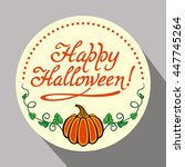 round holiday button with... | Shutterstock .eps vector #447745264
