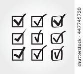 set of check marks | Shutterstock .eps vector #447745720