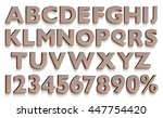 3d rendered uppercase letters... | Shutterstock . vector #447754420