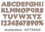 3d rendered uppercase letters...   Shutterstock . vector #447754420