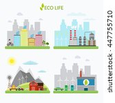 ecology infographic vector... | Shutterstock .eps vector #447755710