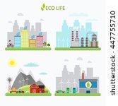 ecology infographic vector... | Shutterstock .eps vector #447755710