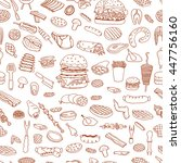 bbq barbecue grill sketch... | Shutterstock .eps vector #447756160