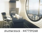 side view of office interior... | Shutterstock . vector #447759268