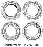 random scribble circles....   Shutterstock .eps vector #447763288