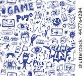 computer games seamless... | Shutterstock .eps vector #447764284