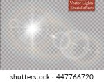 vector transparent sunlight... | Shutterstock .eps vector #447766720