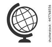 globe icon isolated on a white... | Shutterstock .eps vector #447768556