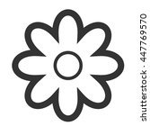 chamomile blossom icon. simple... | Shutterstock .eps vector #447769570