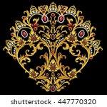 decorative element with gems | Shutterstock . vector #447770320