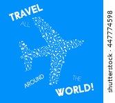 summer set glyph pattern in a... | Shutterstock .eps vector #447774598