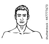 male model isolated vector... | Shutterstock .eps vector #447777673