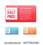 half price  50  off   price cut ... | Shutterstock .eps vector #447781948