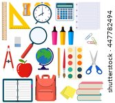 school and education workplace... | Shutterstock .eps vector #447782494