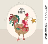greeting card. cartoon color... | Shutterstock .eps vector #447782524