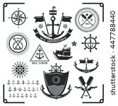 set of vintage nautical labels  ... | Shutterstock .eps vector #447788440