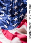 Small photo of USA flag. American flag. American flag blowing wind. Fourth - 4th of July.