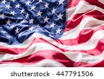 american flag studio shot.  | Shutterstock . vector #447791506