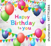 birthday greeting card with...   Shutterstock .eps vector #447791866