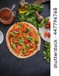 making traditional italian... | Shutterstock . vector #447796768
