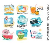 set of hand drawn summer signs... | Shutterstock .eps vector #447797380