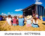 teenagers  summer music... | Shutterstock . vector #447799846