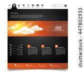 creative dark website template. ...