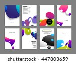abstract background with liquid ... | Shutterstock .eps vector #447803659