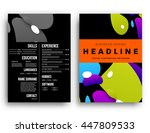 abstract background with liquid ... | Shutterstock .eps vector #447809533