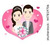 bride and groom vector... | Shutterstock .eps vector #447819706