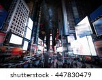 times square manhattan new york ... | Shutterstock . vector #447830479