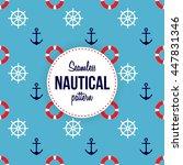 seamless nautical pattern | Shutterstock .eps vector #447831346