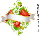 vector ripe strawberry and... | Shutterstock .eps vector #447833848