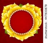 vector yellow rose heart frame...   Shutterstock .eps vector #447833878