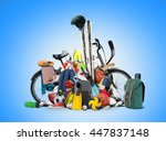 sports equipment has fallen... | Shutterstock . vector #447837148