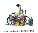 sports equipment has fallen... | Shutterstock . vector #447837154