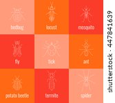 insect line icon set made in... | Shutterstock .eps vector #447841639