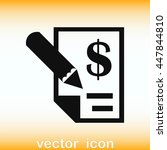 money icon  finance icon ... | Shutterstock .eps vector #447844810