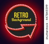 retro sign with lights. volume... | Shutterstock . vector #447845599