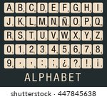 Alphabet Created With A Flat...