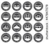 vintage labels set of portland  ... | Shutterstock .eps vector #447847078