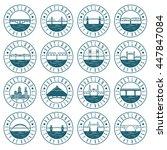 vintage labels set of portland  ... | Shutterstock .eps vector #447847084