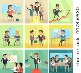 set of business concepts. flat... | Shutterstock .eps vector #447850930