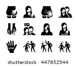 sexual harassment vector icon... | Shutterstock .eps vector #447852544